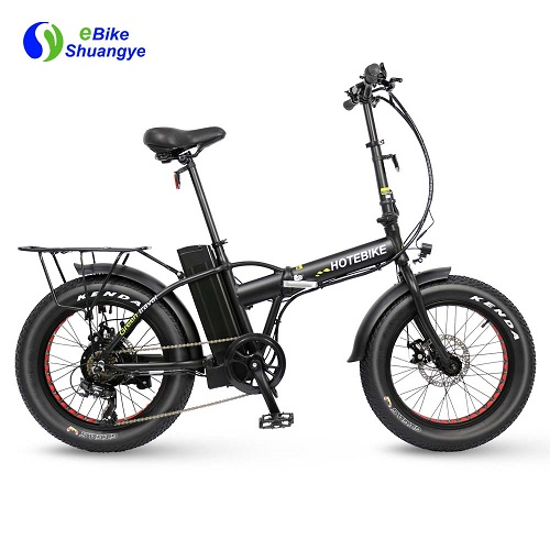HOTEBIKE 20 inch folding fat tire electric bike