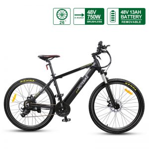 Adult Electric Bikes 48V 750W Mountain electric bicycle 26 inch Ebike A6AH26