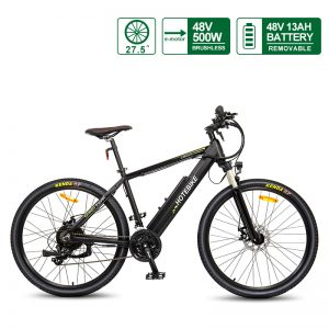 27.5″ 48V 500W High-power E-bike Electric Bicycles Hidden Battery
