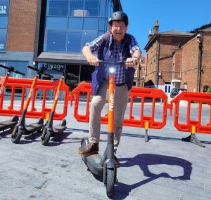 Our columnist tries out an e-scooter in Colchester