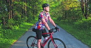 G-C grad is partway through a cross-country bike trip for charity