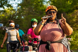 Bike advocate Kenya Templeton is taking The Velo Griot to another level
