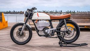 Honda CB200 Modified Into An Electric Motorcycle By Omega Motors