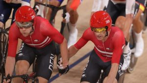 Olympics-Cycling-Madison's Joy for Danes, Japan's Bicycle Gold Dream