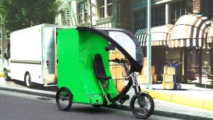 Cargo bikes can deliver packages faster—and with less pollution—than v