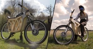 Sustainable woodworker builds her own beautiful wooden electric bike